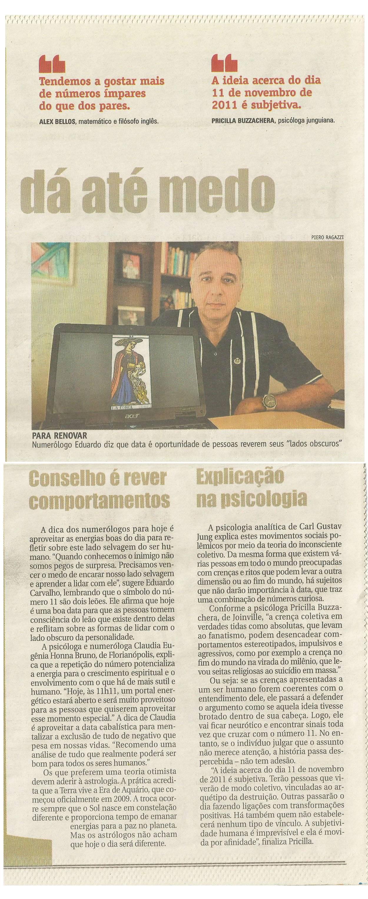 Jornal A Notícia -11/11/11