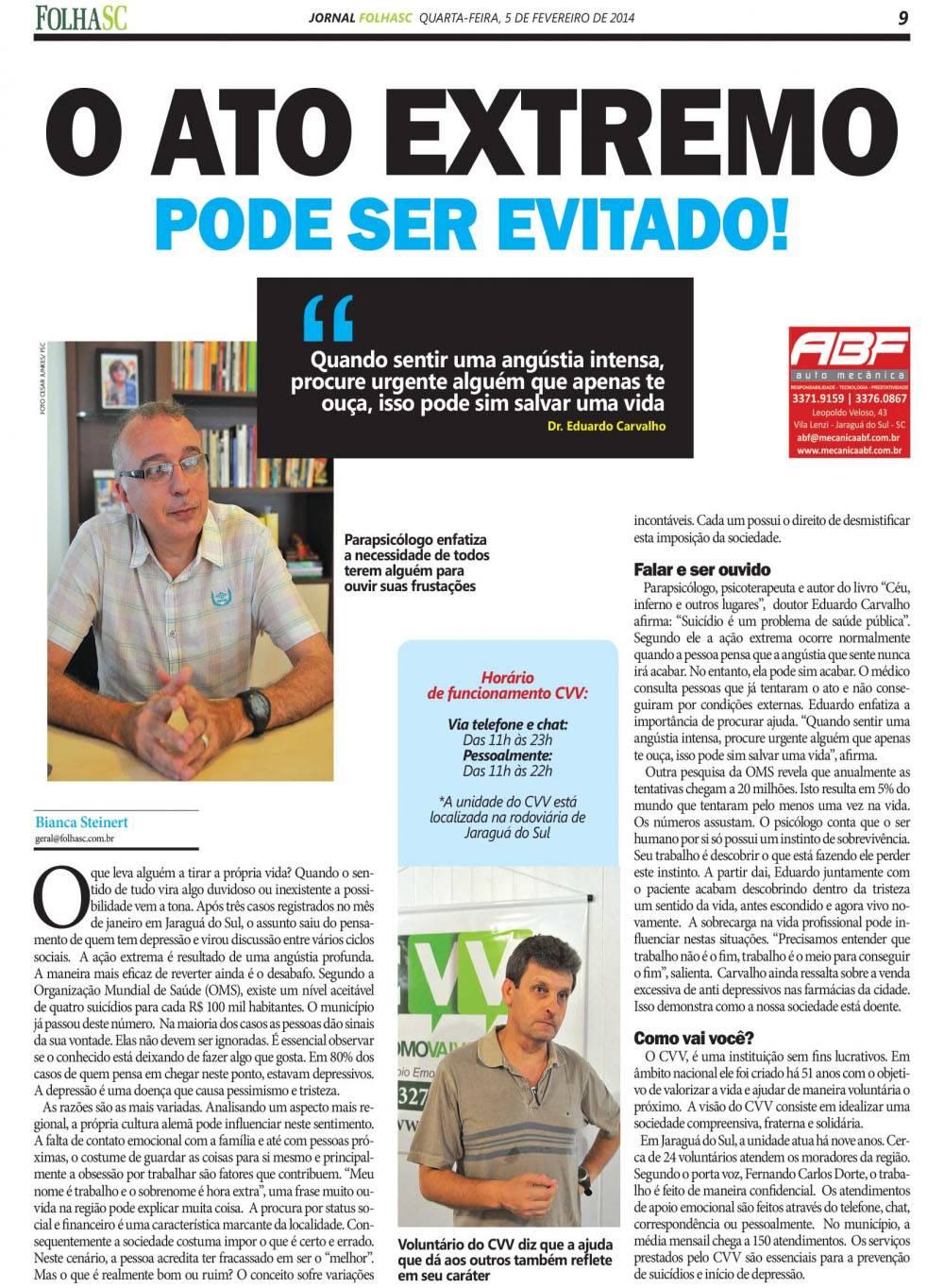 Jornal FolhaSC -5 fev 2014