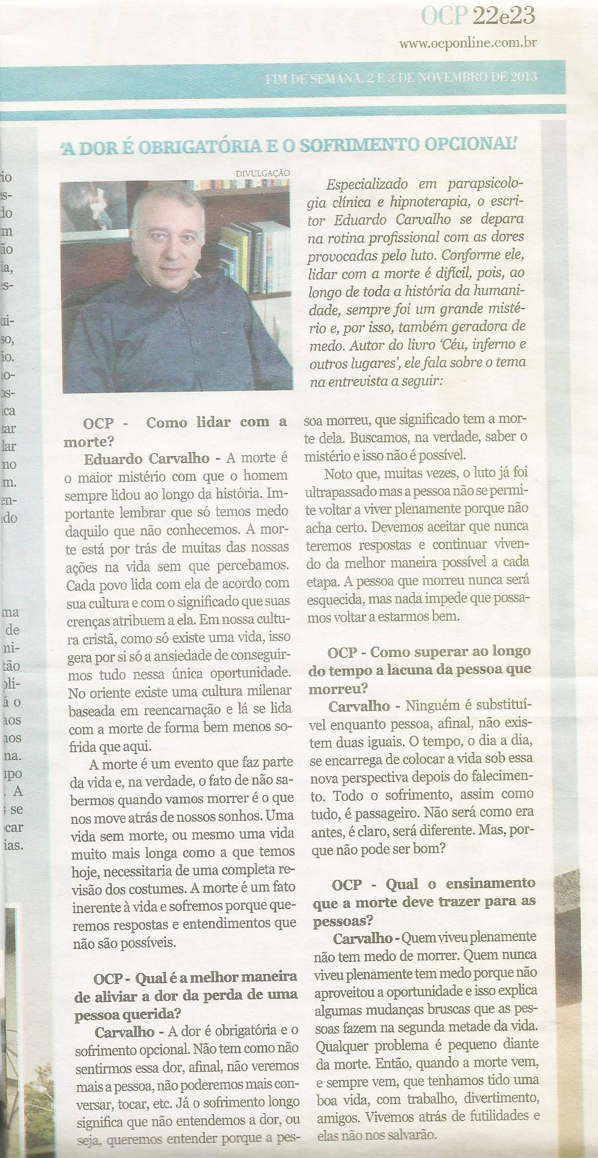 Jornal O Correio do Povo - 2 e 3 nov 2013